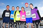 Tommy Horan, Jean Hanafin, Kate Spring, Caroline Roche, Bryan O'Sullivan and Andrea Heffernan at the Valentines 10 mile road race in Tralee on Saturday.