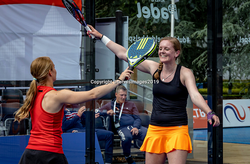Rosmalen, Netherlands, 15 June, 2019, Tennis, Libema Open, NK Padel, Final Padel womans double: Milou Ettekhoven (NED) and Marcella Koek (NED) (R) celebrate matchpoint<br />
