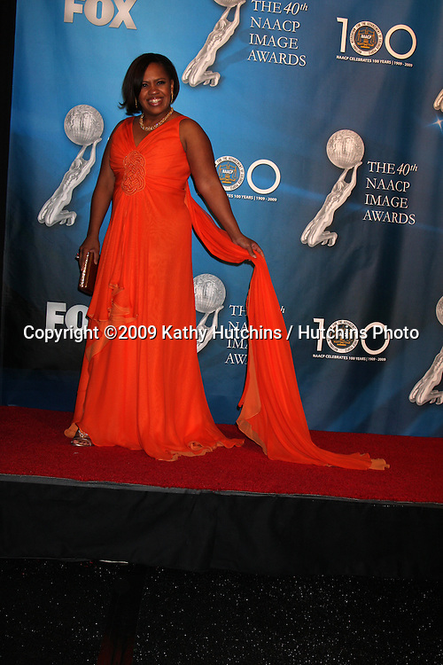 Chandra Williams   in the Press Room  at the 40th Annual NAACP Image Awards  at the Shrine Auditorium in Los Angeles, CA on .February 12, 2009.©2009 Kathy Hutchins / Hutchins Photo..                .