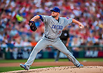 7 October 2017: Chicago Cubs starting pitcher Jon Lester on the mound against the Washington Nationals at Nationals Park in Washington, DC. The Nationals defeated the Cubs 6-3 and even their best of five Postseason series at one game apiece. Mandatory Credit: Ed Wolfstein Photo *** RAW (NEF) Image File Available ***