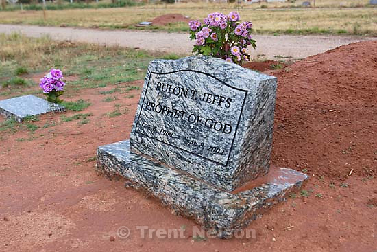 Rulon Jeffs grave, cemetery.&amp;#xA;; 11.11.2005<br />