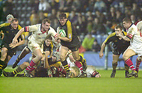 London. Great Britain, Wasps, Craig DOWD, breaks with the ball, during the Heineken Cup. London Wasps v Ulster Match, played at Loftus Road, West London. 06/01/2002.  [Mandatory Credit;  Peter Spurrier/Intersport Images]..