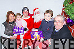Pictured at the Christmas food and crafts fair in Duagh Sports and Leisure Centre on Sunday were L-R: Siobhan and Lucy Kelly, Duagh, Mrs Claus and Santa Claus, North Pole, Michael and Johnny Kelly, Duagh.