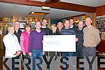 Presentation : Members of Mike the Pie's Golf society, Liastowel making a presentation of a cheque for €580.00, the proceeds of Charity night held at Mike the Pie's Bar recently.L-R: Julie Gleeson,Eamonn O'Connor,Eileen Sheehy,Tommy Canavan, Theo Lynch, Kay hanley, John Molyneaux, Mike Canavan, Adrian Grimes, Declan O'Connell & Sean Carey.