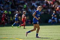 Seattle, WA - Saturday, August 26th, 2017: Katlyn Johnson during a regular season National Women's Soccer League (NWSL) match between the Seattle Reign FC and the Portland Thorns FC at Memorial Stadium.