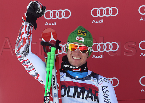 06.12.2011. Beaver Creek, USA. Ski Alpine FIS World Cup Giant slalom the men Award Ceremony Picture shows Marcel Hirscher AUT
