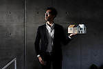 Tokyo, January 21 2013 - Portrait of Japanese architect Daisuke Sugawara at his office in the Meidaimae area.