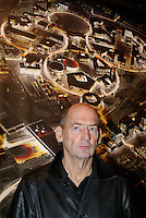 "milano, quartiere bovisa. presentazione del progetto urbanistico ""Nuova Bovisa"" per l'area dei gasometri. nella foto: rem koolhaas, architetto --- milan, bovisa district. presentation of the new city plan ""Nuova Bovisa"" for the area of the gasometers. the architect rem koolhaas"