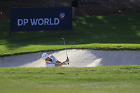 Haotong Li (CHN) on the 15th during the 1st round of the DP World Tour Championship, Jumeirah Golf Estates, Dubai, United Arab Emirates. 15/11/2018<br /> Picture: Golffile | Fran Caffrey<br /> <br /> <br /> All photo usage must carry mandatory copyright credit (&copy; Golffile | Fran Caffrey)
