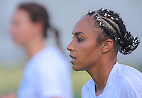 Boyds, MD - Saturday July 09, 2016: Samantha Johnson prior to a regular season National Women's Soccer League (NWSL) match between the Washington Spirit and the Chicago Red Stars at Maureen Hendricks Field, Maryland SoccerPlex.