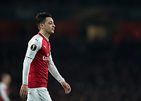 Mesut Ozil of Arsenal during the UEFA Europa League round of 16 2nd leg match between Arsenal and AC Milan at the Emirates Stadium, London, England on 15 March 2018. Photo by Vince  Mignott / PRiME Media Images.