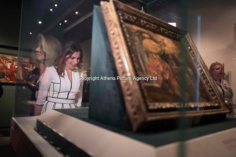 Pictured: Betty (Peristera) Baziana at Benaki Museum in Athens, Greece. Wednesday 09 May 2018 <br /> Re: Visit of the Duchess of Cornwall to the Benaki Museum as part of her official visit with HRH Prnce Charles to Athens, Greece.
