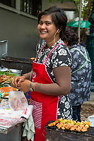 Bangkok, Thailand.  Street Food Vendor.