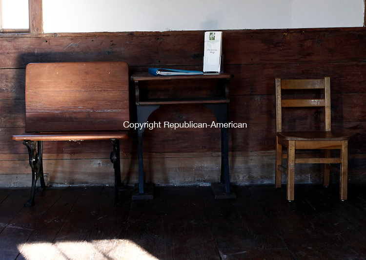 Roxbury, CT- 27 December 2013-122813CM07-  COUNTRY LIFE ONLY PLEASE--- A desk and chairs inside Good Hill School house during an open house in Roxbury on Saturday afternoon.    Christopher Massa Republican-American