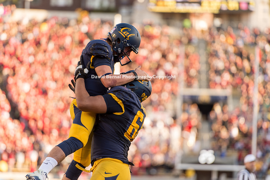BERKELEY, CA - November 22, 2014: The Big Game. The Cal Bears vs the Stanford Cardinal in Berkeley, California. Final score, Cal Bears 17, Stanford Cardinal 38.