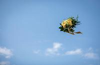 Yellow Jersey podium flowers flyby <br /> <br /> Stage 4: La Baule &gt; Sarzeau (192km)<br /> <br /> 105th Tour de France 2018<br /> &copy;kramon
