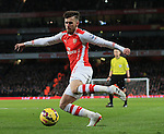 Arsenal's Aaron Ramsey in action<br /> <br /> Barclays Premier League- Arsenal vs Leicester City  - Emirates Stadium - England - 10th February 2015 - Picture David Klein/Sportimage