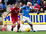 St Johnstone v Aberdeen&hellip;15.09.18&hellip;   McDiarmid Park     SPFL<br />Richie Foster and Niall McGinn<br />Picture by Graeme Hart. <br />Copyright Perthshire Picture Agency<br />Tel: 01738 623350  Mobile: 07990 594431