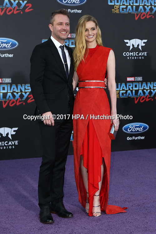 "LOS ANGELES - APR 19:  Chris Hardwick, Lydia Hearst at the ""Guardians of the Galaxy Vol. 2"" Los Angeles Premiere at the Dolby Theater on April 19, 2017 in Los Angeles, CA"