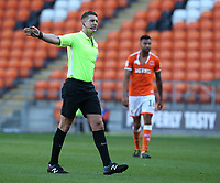 Referee Robert Jones<br /> <br /> Photographer Stephen White/CameraSport<br /> <br /> The EFL Sky Bet League One - Blackpool v Rochdale - Saturday 6th October 2018 - Bloomfield Road - Blackpool<br /> <br /> World Copyright &copy; 2018 CameraSport. All rights reserved. 43 Linden Ave. Countesthorpe. Leicester. England. LE8 5PG - Tel: +44 (0) 116 277 4147 - admin@camerasport.com - www.camerasport.com