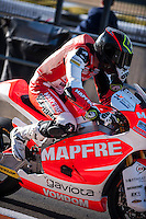 Jordi Torres in pit line at pre season winter test IRTA Moto3 & Moto2 at Ricardo Tormo circuit in Valencia (Spain), 11-12-13 February 2014