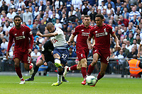 Lucas of Tottenham Hotspur goes close to grabbing an equaliser during Tottenham Hotspur vs Liverpool, Premier League Football at Wembley Stadium on 15th September 2018
