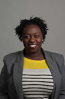 DiAndrea Brown of the School of Education is photographed for Employee Headshot day. (Photo by Kaitlyn Becker Johnson)
