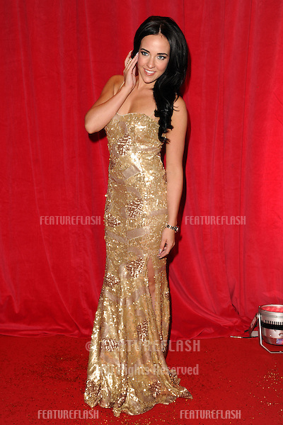 Stephanie Davis arriving for the 2014 British Soap Awards, at the Hackney Empire, London. 24/05/2014 Picture by: Steve Vas / Featureflash