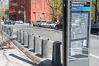 New York, NY - Newly installed BikeShare station on LaGuardia Place near NYU and Washington Square Park