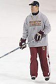 Greg Brown - Boston College's morning skate on Friday, December 30, 2005 at Magness Arena in Denver, Colorado.  Boston College defeated Ferris State that afternoon in a shootout and defeated Princeton the following night to win the Denver Cup.