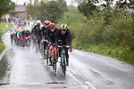 Jos Van Edmen (NED) and Rohan Dennis (AUS) lead the peloton during the Men Elite Road Race of the UCI World Championships 2019 running 280km from Leeds to Harrogate, England. 29th September 2019.<br /> Picture: Alex Whitehead/SWpix.com | Cyclefile<br /> <br /> All photos usage must carry mandatory copyright credit (© Cyclefile | Alex Whitehead/SWpix.com)