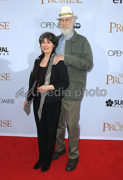 """12 April 2017 - Hollywood, California - James Cromwell, Anna Stuart. Premiere Of Open Road Films' """"The Promise"""" held at TCL Chinese Theatre. Photo Credit: AdMedia"""