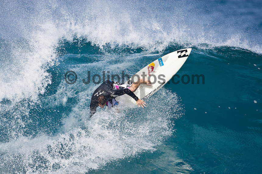 TIAGO PIRES (PRT) surfing at Off The Wall-Backdoor, North Shore of Oahu, Hawaii. Photo: joliphotos.com