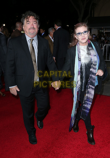 """Westwood, CA - November 3: Carrie Fisher Attending Premiere Of Universal Pictures And Red Granite Pictures' """"Dumb And Dumber To"""" At Regency Village Theatre California on November 3, 2014. Photo Credit:RTNUPA/MediaPunch"""