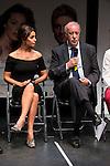 """Blanca Marsillach and Vicente del Bosque at """"Yo me bajo en la próxima, ¿y usted?"""" presentation in Fernán Gómez Theater, Madrid, Spain, September 14, 2015. <br /> (ALTERPHOTOS/BorjaB.Hojas)"""