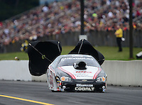 Oct. 6, 2012; Mohnton, PA, USA: NHRA pro stock driver Dave Connolly during qualifying for the Auto Plus Nationals at Maple Grove Raceway. Mandatory Credit: Mark J. Rebilas-