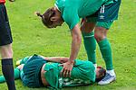 07.07.2019, Parkstadion, Zell am Ziller, AUT, PSP SV WERDER BREMEN vs WSG SWAROVSKI TIROL<br /> <br /> im Bild / picture shows <br /> <br /> <br /> Benjamin Goller (Neuzugang Werder Bremen #39) Verletzung / verletzt / Schmerzen<br /> <br /> Foto © nordphoto / Kokenge