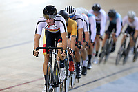 Nick Kergozou of Southland competes in the Elite Men Omnium 4, Points Race 25km, at the Age Group Track National Championships, Avantidrome, Home of Cycling, Cambridge, New Zealand, Saturday, March 18, 2017. Mandatory Credit: © Dianne Manson/CyclingNZ  **NO ARCHIVING**