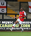 Mansour Assoumani of Wrexham during the Blue Square Premier match between Cambridge United and Wrexham at the Abbey Stadium, Cambridge on 19th September, 2009..© Kevin Coleman 2009 .