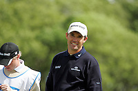 Padraig Harrington smiles after paring the 10th hole during the third round of the Irish Open on 19th of May 2007 at the Adare Manor Hotel & Golf Resort, Co. Limerick, Ireland. (Photo by Eoin Clarke/NEWSFILE)...
