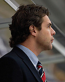 Suisse Assistant Coach Manuele Celio. The Suisse defeated Slovakia 2-1 in a 2007 World Juniors match on January 2, 2007, at FM Mattson Arena in Mora, Sweden.
