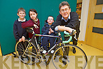 Pictured for the launch of the Enable Ireland Tralee - Galway Cycle 1 day 100 miles taking place on 7th September were: Ronan Foley (7), Cian Meehan (9), Aimee Griffin (9) and Sean Scally (Enable Ireland Kerry Service).