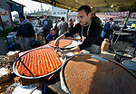 Pastry for sale in the market of the Nuseirat refugee camp in the middle of the Gaza strip. .