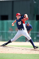 October 6, 2009:  Relief Pitcher Drew Storen of the Washington Nationals organization delivers a pitch during an Instructional League game at Space Coast Stadium in Viera, FL.  Storen was drafted in the 1st round of the 2009 MLB Draft.  Photo by:  Mike Janes/Four Seam Images