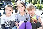 Daniel and Daniella Lozanu with Goda Konciute waiting for the Helicopter at the Garda Station Open Day...Picture Jenny Matthews/Newsfile.ie