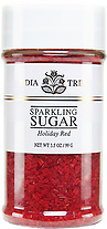 10212 Holiday Red Sparkling Sugar, Small Jar 3.5 oz