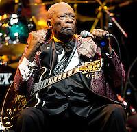11/11/11 Los Angeles, CA: Blues Guitar Legend B.B. King performs at Cub Nokia at LA Live