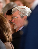 George Lucas prior to the ceremony in the East Room of the White House in Washington, D.C. where United States President Barack Obama will present the National Medals of Arts and Humanities in Washington, D.C. where he  on Wednesday, July 10, 2013.<br /> Credit: Ron Sachs / CNP