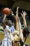 23 November 2012: Duke's Chelsea Gray (12). The Duke University Blue Devils played the Valparaiso University Crusaders at Cameron Indoor Stadium in Durham, North Carolina in an NCAA Division I Women's Basketball game. Duke won the game 90-45.