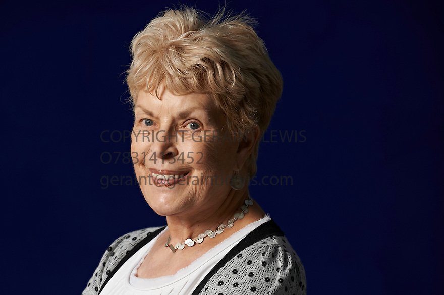Ruth Rendell crime  writer  at The Edinburgh International Book Festival   . Credit Geraint Lewis